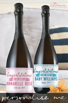 Personalised Congratulations New Baby Prosecco by Signature PG