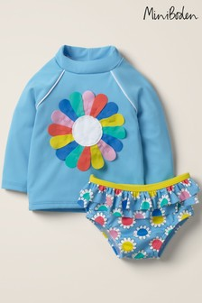 Boden Blue Appliqué Sunsafe Rash Vest Set