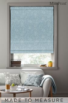 Laurus China Blue Made To Measure Roman Blind by MissPrint