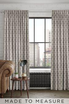 Hallam Vintage Metallic Made To Measure Curtains