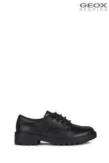 Geox Junior Girls' Casey Black Shoes