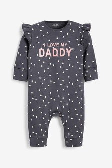 Charcoal Daddy Single Footless Sleepsuit (0mths-3yrs)