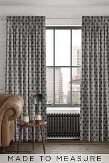 Hallam Danube Blue Made To Measure Curtains