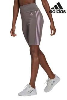 adidas 3 Stripe High Rise High Waisted Shorts