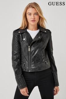 Guess Grey Yvette Biker Jacket