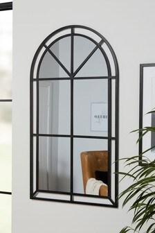 Metal Window Arch Floor Standing Mirror