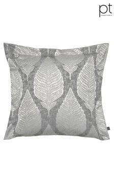 Treasure Chrome Feather Cushion by Prestigious Textiles