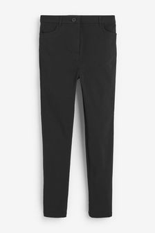 Black Skinny Fit Stretch High Waist Trousers (9-16yrs)
