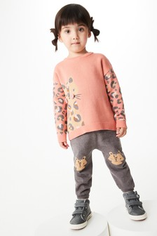 Leopard Character Knitted Co-ord Set (3mths-7yrs)