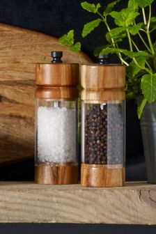 Wooden Salt And Pepper Set