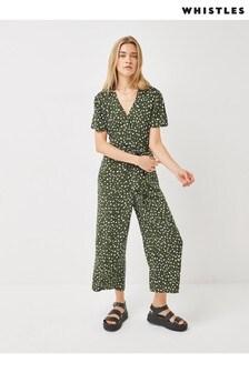 Whistles Leopard Print Zip-Up Jumpsuit