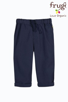 Frugi Navy Organic Cotton Plain Trousers