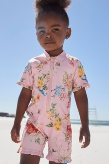 Pink Floral Sunsafe Suit (3mths-7yrs)