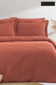 Waffle Red Bedset by The Linen Yard