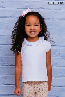 Trotters London White Willow Jersey Top