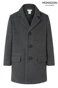 Monsoon Dark Grey Boys Top Coat