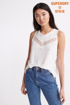 Superdry White Chevron Lace Vest