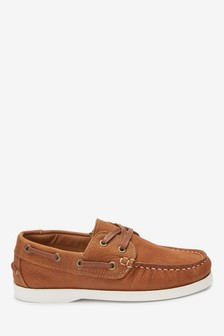 Tan Leather Boat Shoes