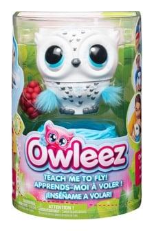Owleez Flying Interactive Baby Owl- White