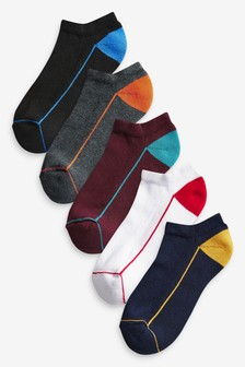 Rich Cushioned Trainer Socks Five Pack