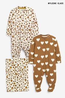 Myleene Klass Baby Sleepsuits 2 Pack