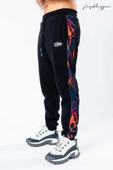 Hype. x Back To The Future Black Taped Flame Joggers
