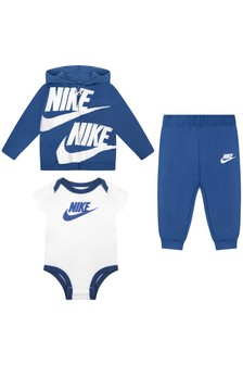 Baby Boys Blue Cotton Set