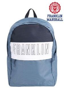 Franklin & Marshall Blue Sports Block Backpack
