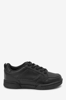 Black Leather Lace-Up Shoes (Older)
