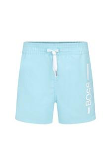Baby Boys Green Swim Shorts