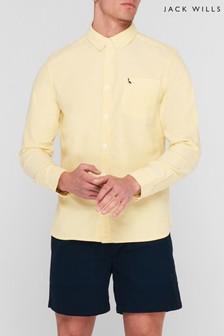 Jack Wills Yellow JW Wadsworth Oxford Shirt