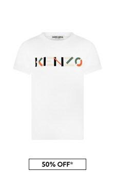 Kenzo Kids Boys White Cotton T-Shirt