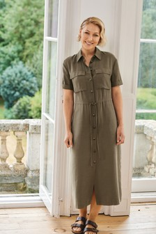 Khaki Emma Willis Utility Dress