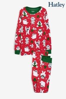 Hatley Yuletide Yetis Organic Cotton Pyjama Set