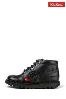 Kickers® Black Kick Hi Zip Boots