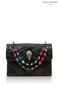 Kurt Geiger London Black Combination Mini Kensington Chain Bag