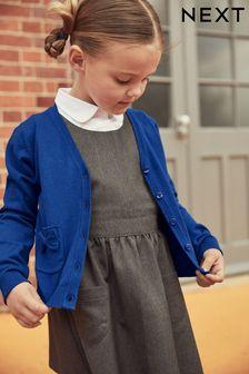 Blue Bow Pocket Cardigan (3-16yrs)