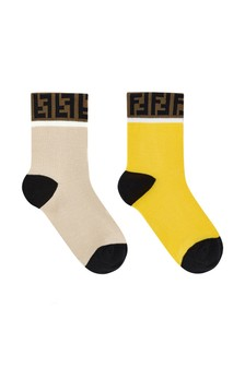 Kids Yellow Cotton Sock Set