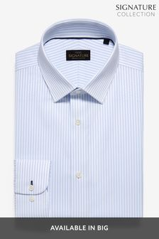 Blue Stripe Regular Fit Single Cuff Non-Iron Egyptian Cotton Stretch Signature Shirt