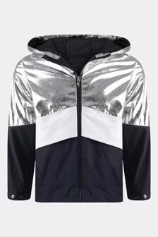 Boys Metallic Silver & Navy Quinic Jacket