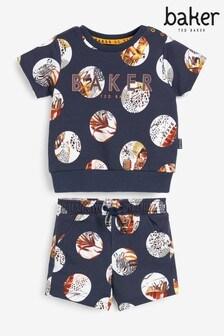 Baker by Ted Baker Spot Safari Print Top And Shorts Set