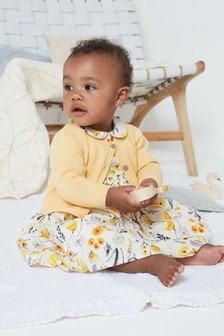 Ochre Prom Dress And Cardigan Set (0mths-2yrs)
