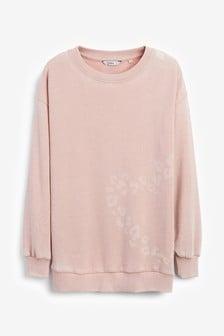 Blush Heart Longline Sweatshirt