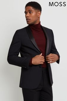 Moss 1851 Tailored Fit Black Shawl Lapel Dress Jacket