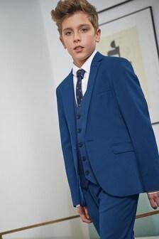 Cobalt Skinny Fit Suit Jacket (12mths-16yrs)