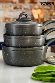 3 Piece Forged Pan Set by Tower
