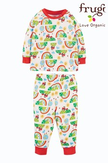 Frugi GOTS Organic Pyjamas - Happy Days Print