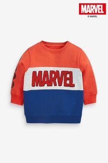 Red/Navy Marvel® Jersey Crew Top (3mths-8yrs)