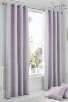 Ebony Eyelet Curtains by Serene