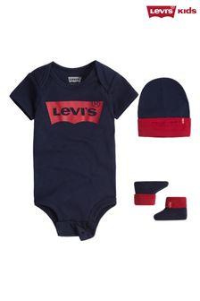Levi's® Navy 3 Piece Baby Gift Set